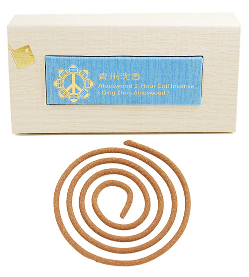 Qing Zhou Aloes wood 2 Hours Coil Incense