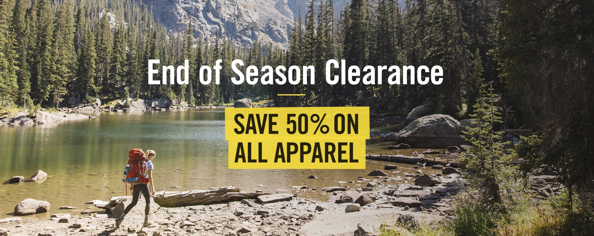 Save 50% on All Apparel!
