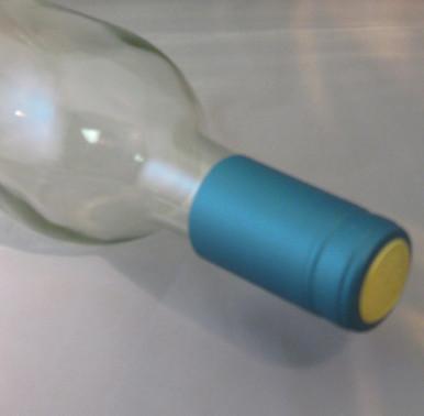 Metallic Light Blue PVC Shrink Capsules