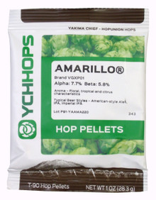 Amarillo Hop Pellets 1 Once Package