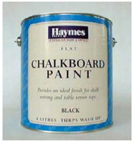 Haymes chalkboard paint black 1L