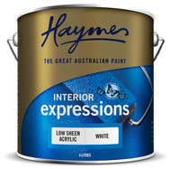 Haymes low sheen acrylic semi gloss white 4L