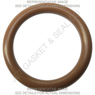 "-214 ORING 75 DURO BROWN FKM/VITON QTY 10 1"" ID 1-1/4"" OD 1/8"" TH"