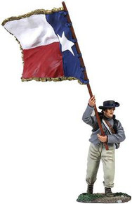 W Britain Confederate Infantry Color Sergeant Charging, 1st Texas Flag No. 1 No 31187