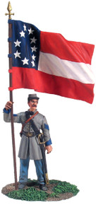 W Britain Confederate Infantry Color Sergeant At Rest First National Colors No. 1 No 31132