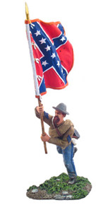 W Britain Confederate Infantry Flagbearer Charging No. 1 No 31042