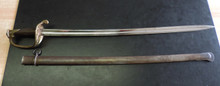 French Import Model 1845 Presentation Line Officer's Sword and  Matching Scabbard