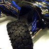 Our X-MAXX shock boots match the stock body colors!  Look at how great they look under the stock blue body!
