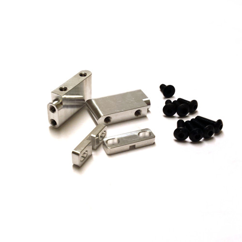 Vekta Aluminum Throttle Servo Mounts complete with M4 servo clamps and hardware.