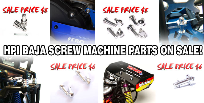 HPI Baja Screw machine parts on sale!