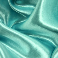 Poly Crepe Back Satin - Carribean Turquoise