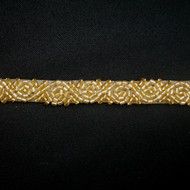 Alexis Gold Beaded Trim