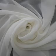 Silk Geogette Zeta - White