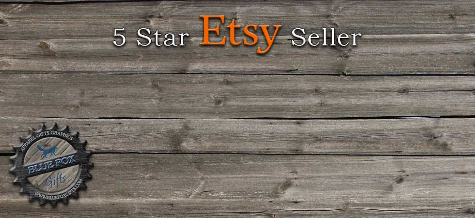 Shop Blue Fox Gifts On Etsy Banner