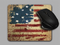 Blue Fox Gifts Cloth top mouse pad featuring the American Flag with a Declaration of Independence overlay