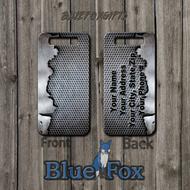 Industrial Grunge Metal Printed Luggage Tag by Blue Fox Gifts