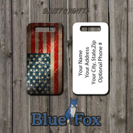 Grunge style American Flag Luggage Tag by Blue Fox Gifts