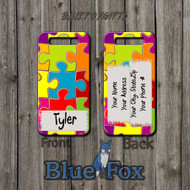 Colored Puzzle Piece luggage Tag by Blue Fox Gifts