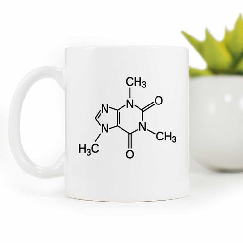 Coffee Lover Caffeine Molecule Coffee Mug | Blue Fox Gifts