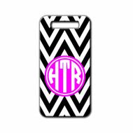 Monogrammed Chevron Luggage tag | Blue Fox Gifts