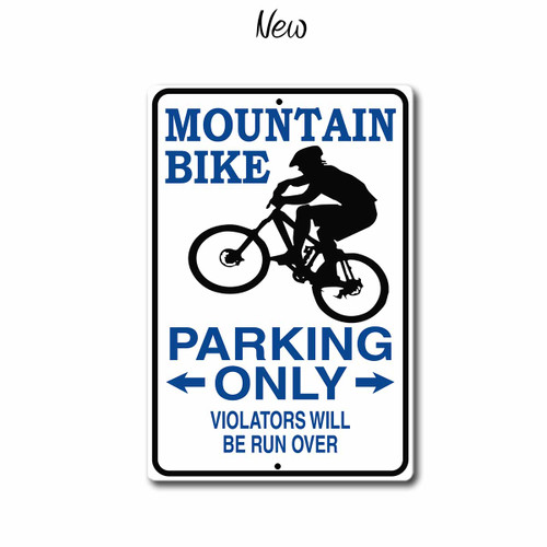 Mountain Bike Parking Only Sign, New Style | Blue Fox Gifts