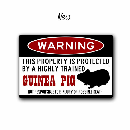 Funny Guinea Pig Warning sign - New Style | Blue fox Gifts