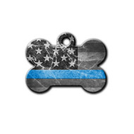 Black and white US flag featuring Thin Blue line   Blue Fox Gifts