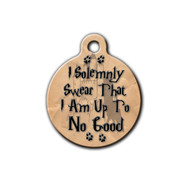 Marauders Map, I solemnly swear Round Pet tag   Blue Fox Gifts