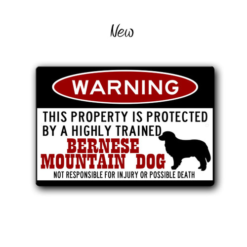 Bernese Mountain Dog Warning sign - New Style | Blue fox Gifts