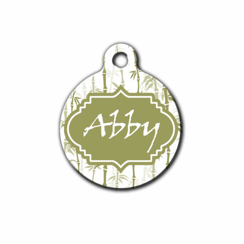 Bamboo Design Pet Tag, Front | Blue Fox Gifts