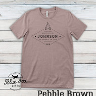 Personalized Vintage Family Camping Shirt, Pebble Brown | Blue Fox Gifts