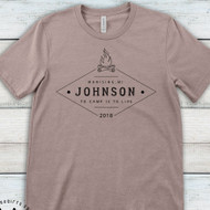 Vintage Family Camping T-shirt - Personalized