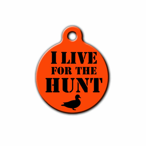 I live for the hunt Pet ID Tag | Blue fox gifts