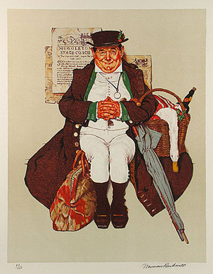 MUGGELTON STAGECOACH BY NORMAN ROCKWELL
