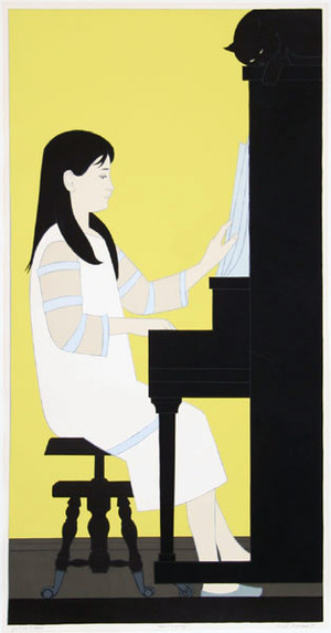 GIRL AT PIANO BY WILL BARNET
