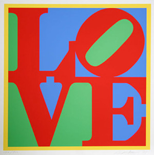 HELIOTHERAPY LOVE (LARGE) BY ROBERT INDIANA