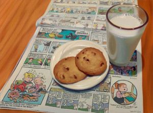 COOKIES AND MILK BY DOUG BLOODWORTH