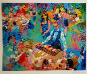 HIGH STAKES BLACKJACK-VEGAS BY LEROY NEIMAN