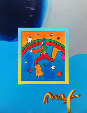 COSMIC JUMPER I (OVERPAINT) BY PETER MAX