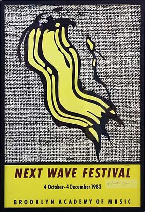 NEXT WAVE FESTIVAL POSTER (SIGNED) BY ROY LICHTENSTEIN