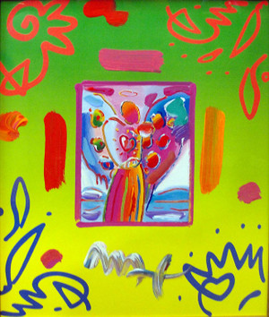 ANGEL WITH HEART COLLAGE 1 BY PETER MAX