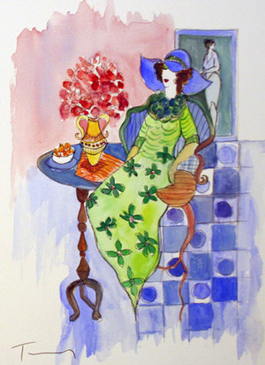 DRESSED UP (WATERCOLOR) BY ITZCHAK TARKAY