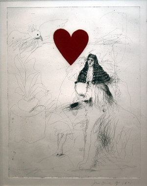 GIRL & DOG BY JIM DINE