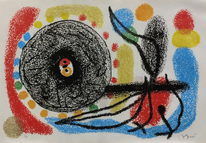 LE LEZARD AUX PLUMES D'OR BY JOAN MIRO