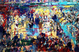 INTRODUCTION OF CHAMPIONS AT MADISON SQUARE GARDEN BY LEROY NEIMAN