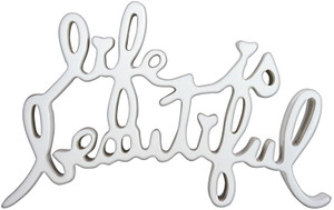 LIFE IS BEAUTIFUL (WHITE) BY MR. BRAINWASH