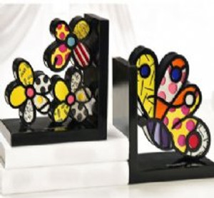 BUTTERFLY BOOKENDS BY ROMERO BRITTO