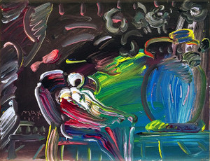 LIVING ROOM (DARK) BY PETER MAX