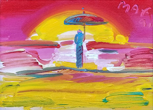 SAGE WITH UMBRELLA (HORIZON) BY PETER MAX