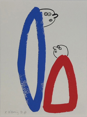 THE STORY OF RED + BLUE (14) BY KEITH HARING